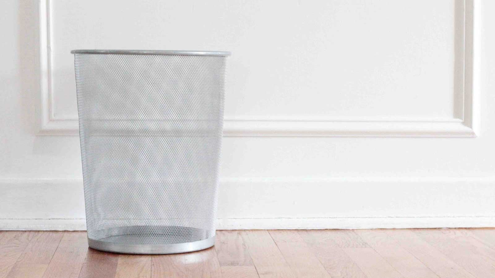 white trash can. Audit Your Spaces White Trash Can